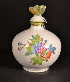 "Herend Porcelain Perfume Bottle. Size : 5.5"""