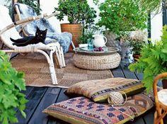 Idee deco terrasse mixer les matieres