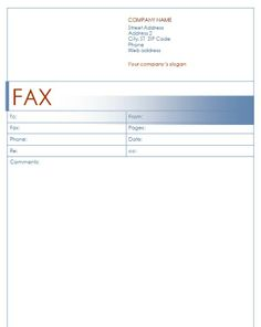 Our Work  Fax Templates