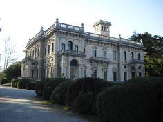 Villa Erba facade on Lake Como