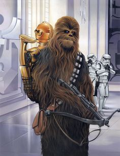 """New painting for Lucasfilms... """"I got your Back"""""""