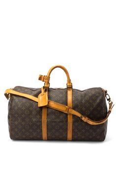 Louis Vuitton Leather Keepall 50 Bandouliere Carryall by Vintage Luxury Handbags on @HauteLook