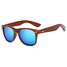 6440d565c47c0 LongKeeper Wood Sunglasses for Men Women Vintage Real Wooden Arms Glasses  (Brown