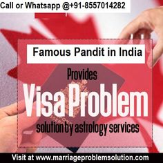 If you need #visa_and_immigration_problem_solution then there is no need to worry as astrology is the best expert in overseas #astrology and will sure that your dream of going abroad is realized.This selective service offers very useful information about his visa & immigration problem solution by astrology. Call as Black Magic Specialist in Canada-+91-8557014282