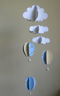613481b04 baby boy mobile   air baloons and clouds by DreamsForSaleByTali Cloud  Mobile