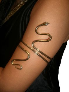Gold Metal Asp Snake ARM BAND Cleopatra egyptian greek goddess queen in Clothing, Shoes & Accessories | eBay