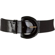 COLLECTION by John Lewis Elastic Stretch Patent Leather Belt, Black ($35) ❤ liked on Polyvore
