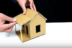 How to Make Cardboard House at Home With Little Budget : 6 Steps - Instructables Cardboard Houses For Kids, Cardboard Crafts Kids, Paper Crafts, Cardboard Boxes, Cardboard Playhouse, Paper Houses, Carton Diy, Cardboard Sculpture, Miniature Crafts