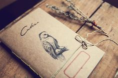 Boho Owl Notebook Recycled paper journal by ManuchePostcardsFrom