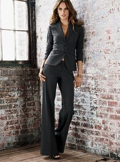 Every business woman needs perfectly tailored suit in their wardrobe.