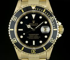 ROLEX 18K YELLOW GOLD BLACK DIAL SUBMARINER DATE GENTS WATCH 16618 http://www.watchcentre.com/product/rolex-18k-yellow-gold-black-dial-submariner-date-gents-watch-16618%C2%A0/4480