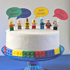 Minifigure Birthday Cake | LEGO Party                              …