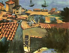 cezanne1867 70 village des pcheurs lestaque fishermans village - Lumire Colore