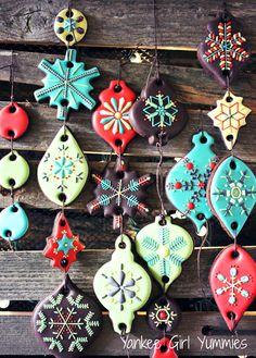 Hanging Ornament cookies. Yankee Girl Yummies