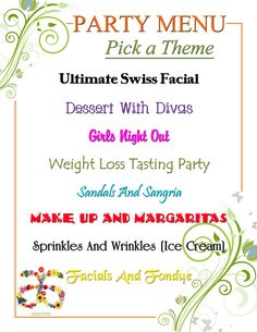"#Arbonne party menu. ""Like: my FB page at Surshae @Arbonne Independent Consultant. Consultant ID 21565488"