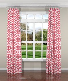 New South Home Couture Garden Gate Coral Custom Drapery Panels