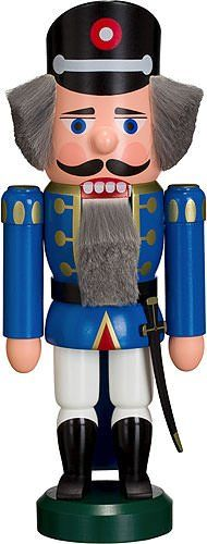 German Medium Size Red Color Nutcracker Policeman -- This is an Amazon Affiliate link. Continue to the product at the image link.