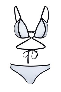 Cheap and fashionable bikinis and swimwear...ASOS mix and match contrast strappy two piece