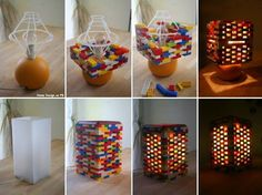 Have time with your kids and try it ..  One of our favorite games. We like to play with these little pieces whenever we have time and just build some colorful structures. If you happen to like Lego too and have a long-forgotten lamp in your home, then here's a great idea of what you can make by combining this creative game with a project idea .