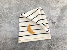 Newborn Boy Sleepy Hat - Navy Ivory Stripe Moon - Photography Prop - READY TO SHIP by wrenandwillowdesigns on Etsy