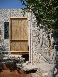 cane/wood/sky shower seahouse outdoor, by Cabanzo 2012, Tricase