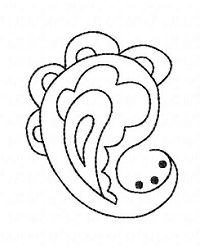 FREE! Paisley Outline 4x4 | Featured Products | Machine Embroidery Designs | SWAKembroidery.com