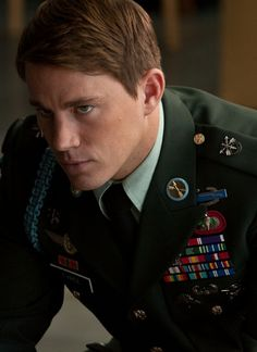 Channing Tatum in Dear John. Channing has always been a favorite actor of mine,he makes a great soldier and looks handsome while he's at it too :)