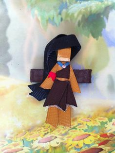 Pocahontas inspired Ribbon Sculpture Hair by SweetTangerineBoutiq, $6.00