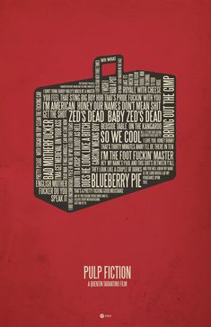 Love this Pulp Fiction quote poster from 37 Posters