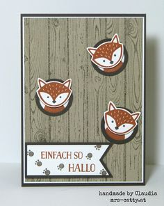 Foxy Friends, Hardwood, Stampin`Up!