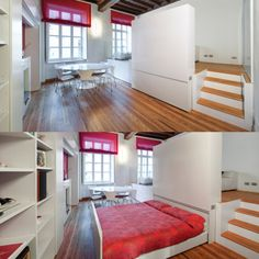 whoa.. cool pull out bed  this would be nice if you had a studio apt with little space