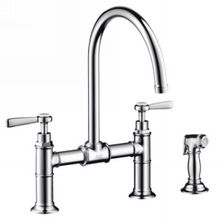 Hansgrohe Axor Montreux Kitchen Bridge w/Sidespray Lever Handle
