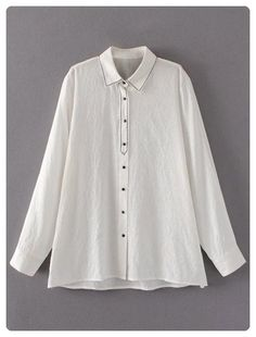 Single Breasted Linen Shirt (White)