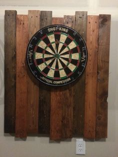 Pallet Dart board Might put a dart holder at the bottom.