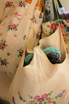 bags from old dresser scarves, pillowcases etc
