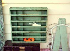 Vintage Industrial Steel Parts Bin by MerlesVintage