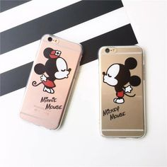 (Free Shipping!)   Cute Mickey Mouse Minnie Kiss Soft TPU Clear Phone Case Cover For iPhone 7 7Plus 5 5S 6 6S 6Plus SE 5C 4 SAMSUNG S7