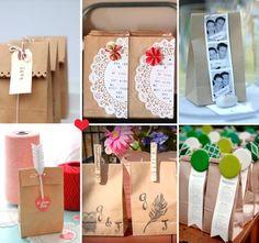 como hacer areglos con bolsas de papel para bautizo - Buscar con Google