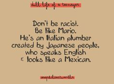 Don't be like Mario?!