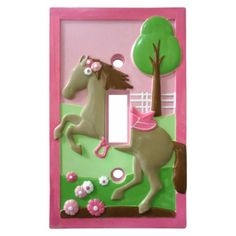 Circo Pretty Horses Light Switch Cover- I need one for a double...