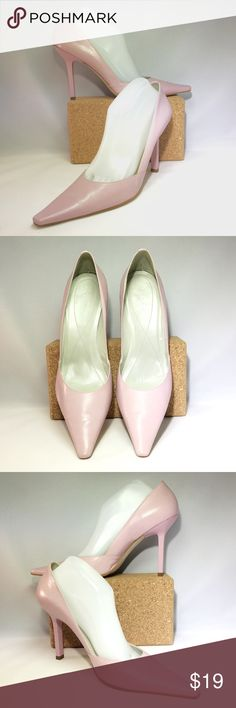 BCBGirls Pink Pump Sz 10B - Perfect for Spring! BCBGirls Pink Pump Sz 10B (40). Gorgeous pale pink leather upper & pale pink high heel. Gently worn with light interior wear; normal wear to the sole & light wear to the upper. There is a small blue mark on front right side of the right shoe - literally the size of a pen tip. (Please see pics). Lovely addition for your Spring wardrobe 🌸 BCBGirls Shoes Heels