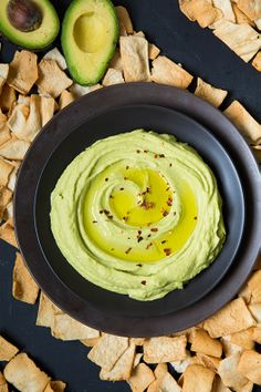 Avocado Hummus - so creamy. So easy! You'll love this dip!