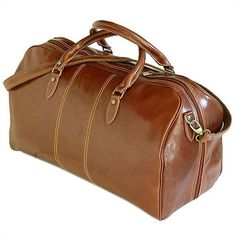 J. W. Hulme Co. Small Classic Duffle Bag, Cognac Leather ...