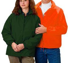 Nylon Windbreaker Coaches Jacket (Light Lined) - Adult (Style 321)   Cardinal Activewear