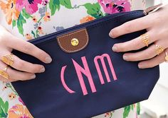 Customize this classic monogram nylon pouch with a fabulous embroidered monogram or writing in over 20 different colors and 10 monogram styles. Use it for make up, as a clutch bag and so much more. Preppy Monogram, Circle Monogram, Grad Gifts, Unique Gifts, Handmade Gifts, Monogram Styles, Cosmetic Pouch, Clutch Bag, Etsy