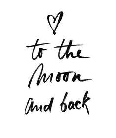 To the moon and back Poster, Hochzeitsgeschenk, Muttertagsgeschenk - Fotowand ideen Print Ads, Poster Prints, Ballerina Sketch, Plakat Design, Love Quotes, Inspirational Quotes, Motivational Quotes, Poster Design, Quotation Marks