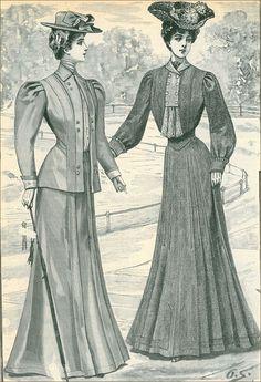 Edwardian Era Fashion, Edwardian Clothing, 1900s Fashion, Victorian Dresses, Edwardian Dress, Historical Clothing, Vintage Fashion, Pretty Clothes, Pretty Outfits
