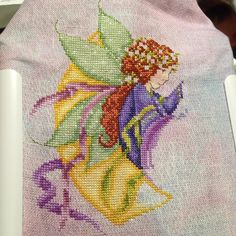 Not sure  if I have made much progress since my last update. But The Little Stitching Fairy is coming off the qsnap today to make way for one of my SALs. So here is a lovely update with a baby in shadow in the back if you look.  . . . #littlestitchingfairy #joanelliott #crossstitch #xstitch #xstitchersofinstagram #fairy #handdyed #fabricsbystephanie #opalescence #dmcfloss #kreinik