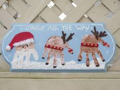 Handprint Reindeers and Santa & tons of Christmas hand and foot prints