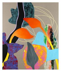 Australian artist Marc Freeman, mixed media canvas